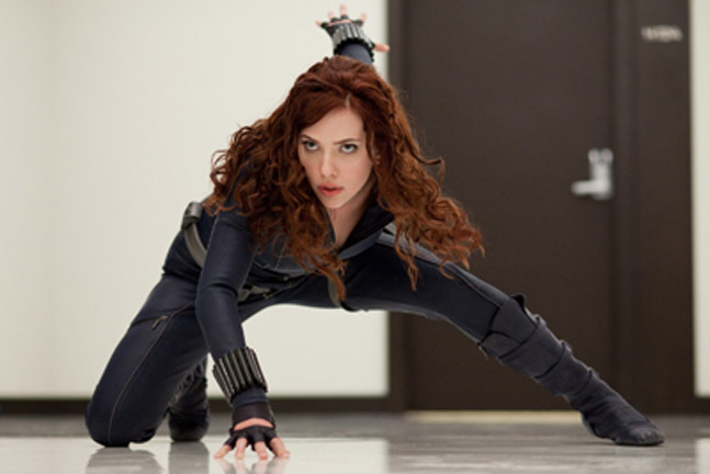 Scarlett Johansson As The Black Widow In Iron Man 2