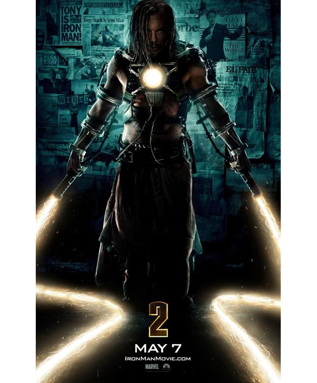 Iron Man Poster - Mickey Rourke As Whiplash