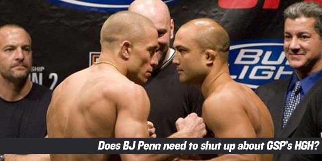 BJ Penn and Georges St-Pierre