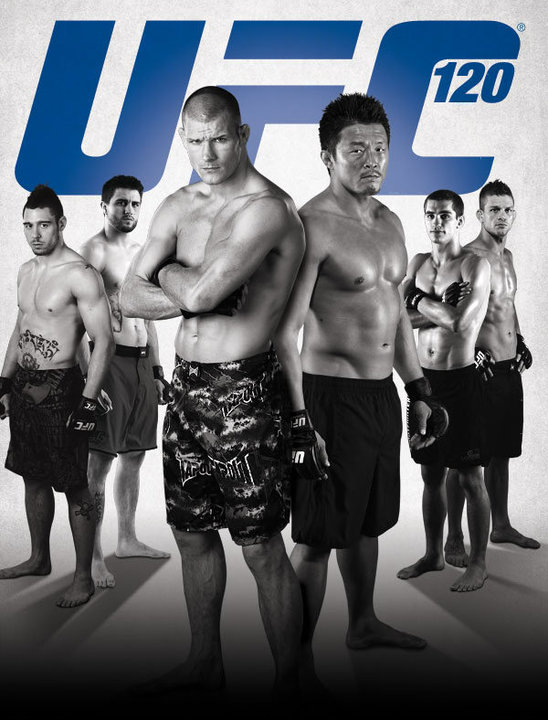 UFC 120 Fight Card Poster