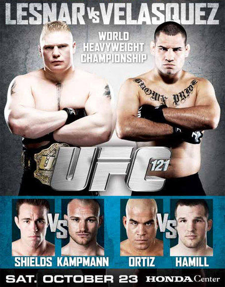 UFC 121 Fight Card Poster