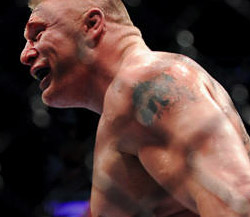 brock lesnar smile