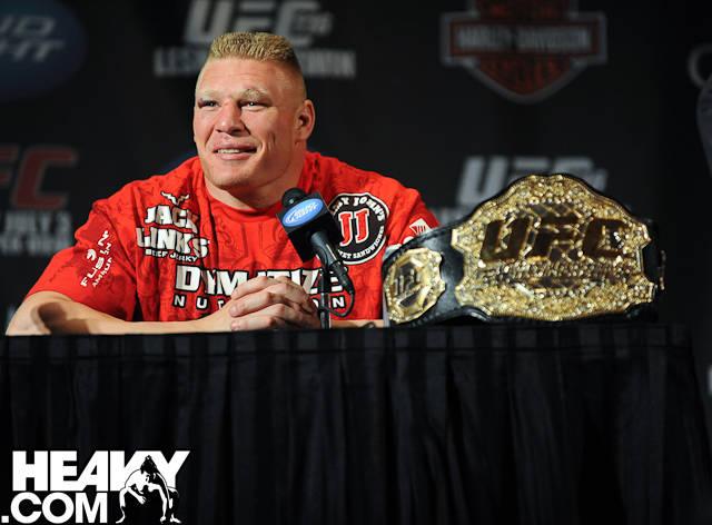 Brock Lesnar at UFC 116 post-fight press conference