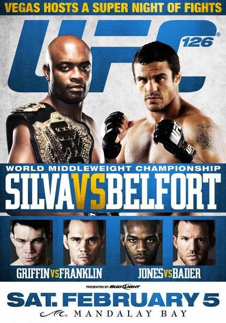 UFC 126 Event Poster