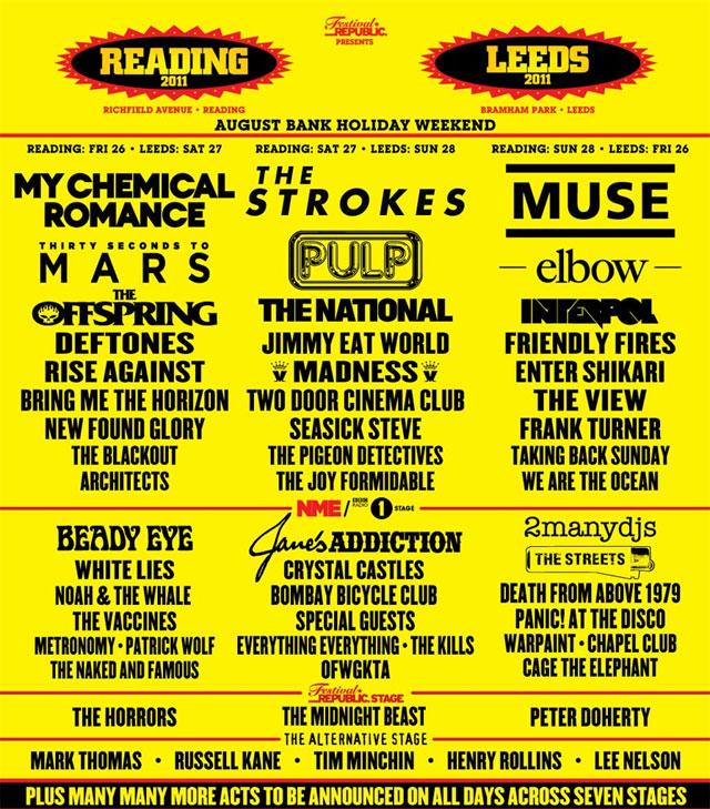 Reading & Leeds Festivals 2011