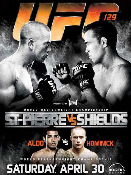 UFC 129 event poster