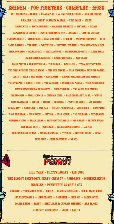 Lollapalooza 2011 Lineup