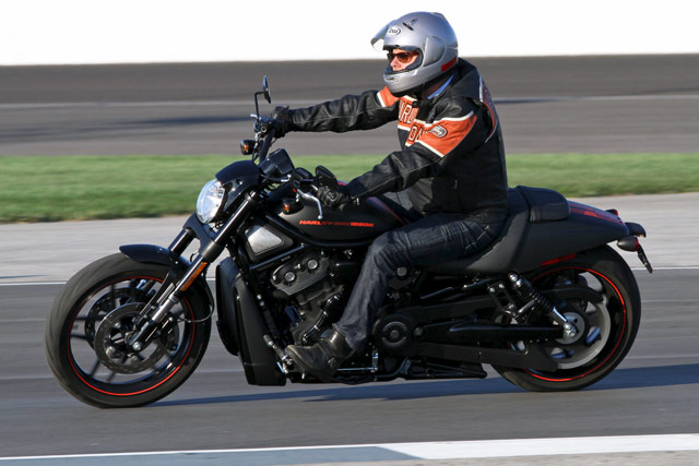 Harley-Davidson Night Rod Special on Indianapolis Motor Speedway