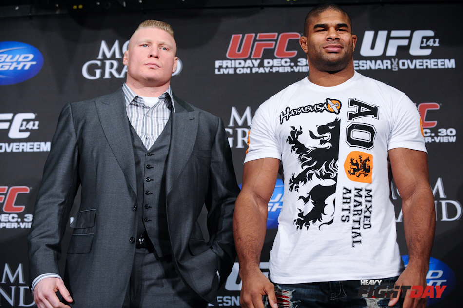 Brock Lesnar and Alistair Overeem UFC 141 Press Conference