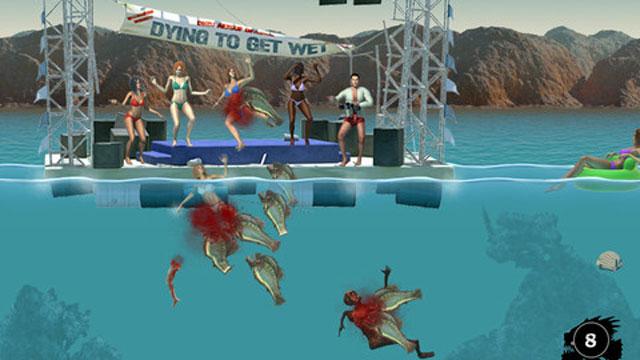 Piranha 3DD iOS game