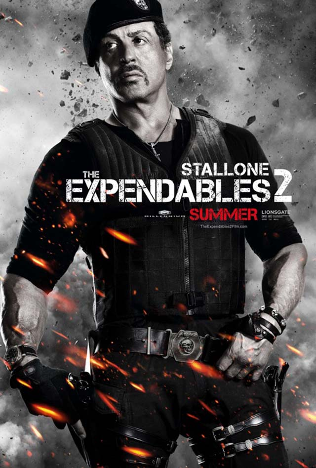 Sylvester Stalone Expendables 2 Yu Nan