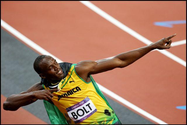 Usain Bolt Men's 100m Victory 2012