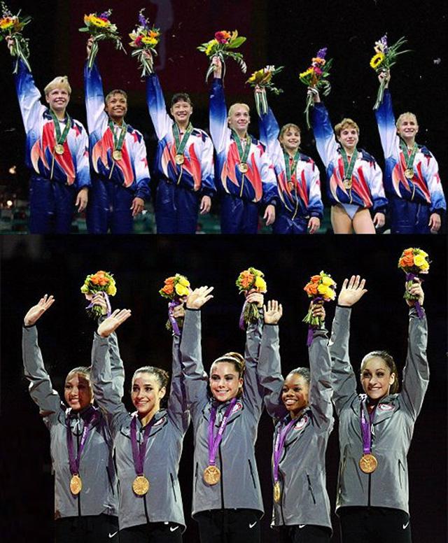 2012 and 1996 US Women's Gymnastics
