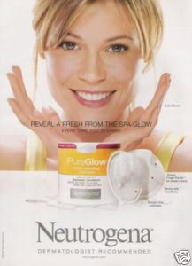 The face of Neutrogena