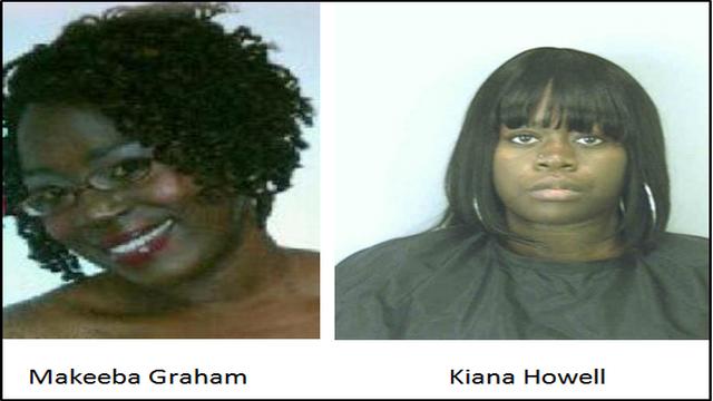 Makeeba Graham and Kiana Howell