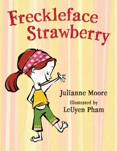 The cover of Moor's book, Freckleface Strawberry