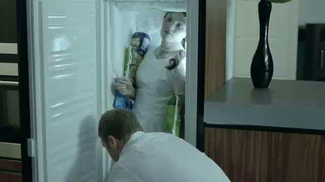 Woman Stuck in Freezer