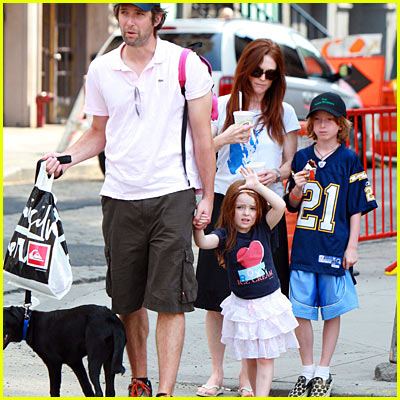 Julianne Moore with her family