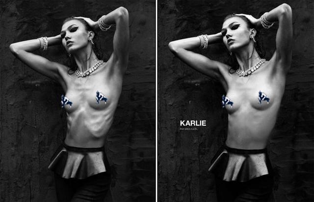 Karlie Kloss skinny model numero photoshop