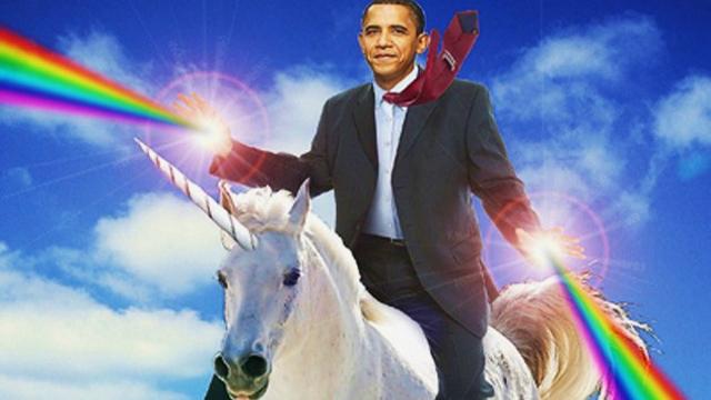Obama Kicks Romney's Ass