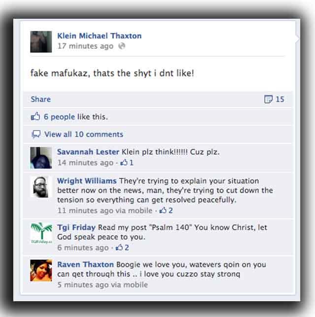 klein michael thaxton facebook hostages