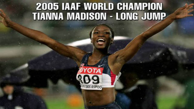 Tianna Madison, long jump, runner, Olympics, gold medal, law suit
