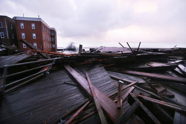 atlantic city boardwalk hurricane sandy NJ