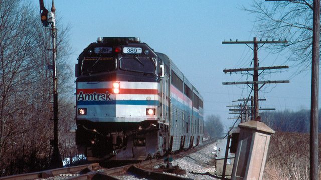 second amtrak train hits second big rig