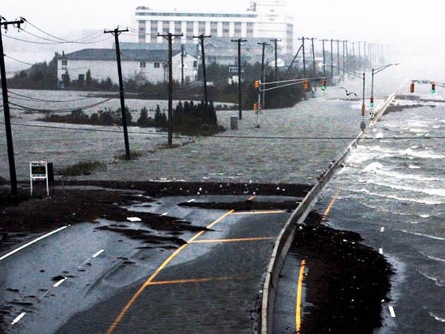 atlantic city road collapse hurricane sandy NJ