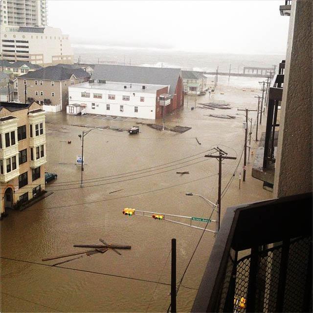 atlantic city flooding hurricane sandy NJ