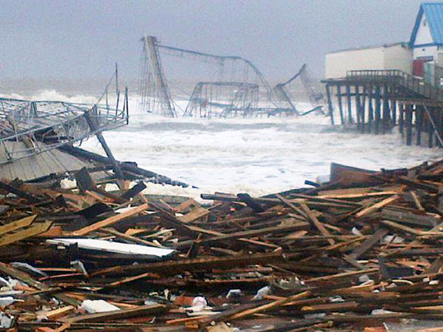 casino pier seaside heights hurricane sandy NJ Jersey Shore