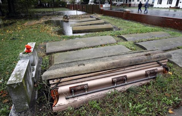 hurricane sandy coffins maryland cemetery