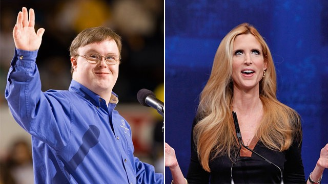 Special Olympics Athlete John Franklin Stephens and Ann Coulter