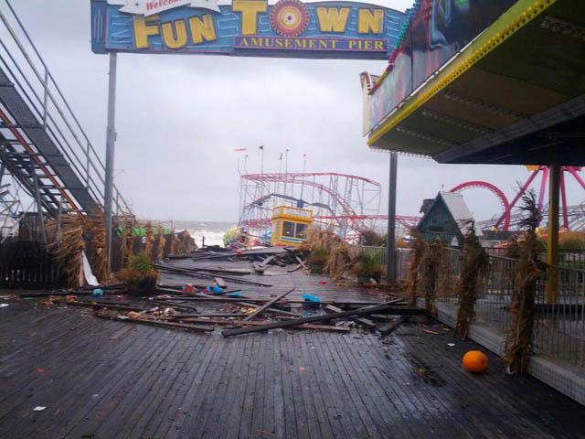 funtown pier seaside heights hurricane sandy NJ Jersey Shore