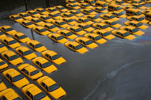 hoboken cabs underwater hurricane sandy NJ Jersey Shore