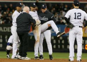 Derek Jeter, broken ankle, Yankees, baseball