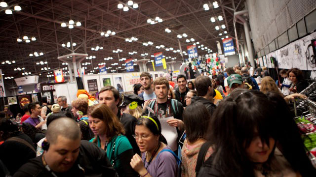 NY Comic Con crowds