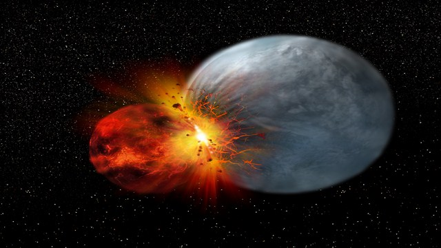 Moon Made From Earth After Violent Collision