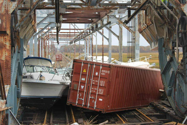 Morgan Draw Bridge hurricane sandy NJ Jersey Shore