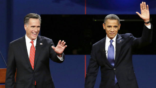 Barack Obama, Mitt Romney, Tie, Poll, Election 2012, debates