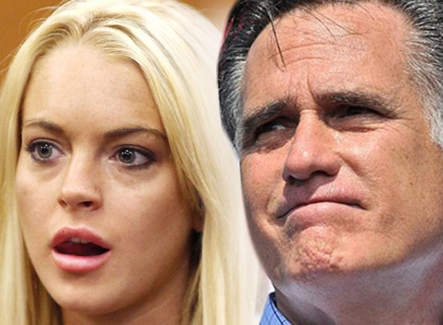 lindsay lohan endorses mitt romney for president