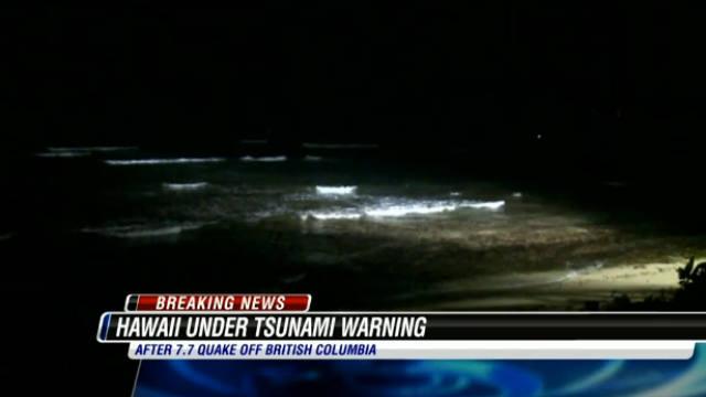 Hawaii, tsunami, waves, earthquake