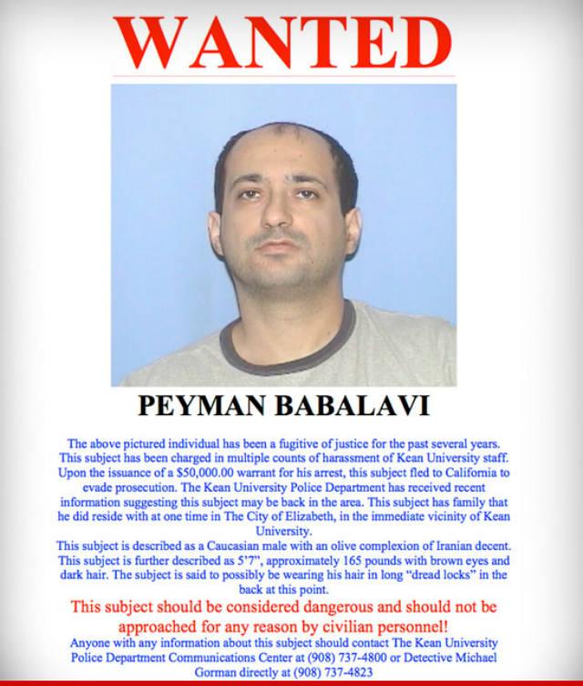 Leeza Gibbons, Peyman Babalevi, fugitive