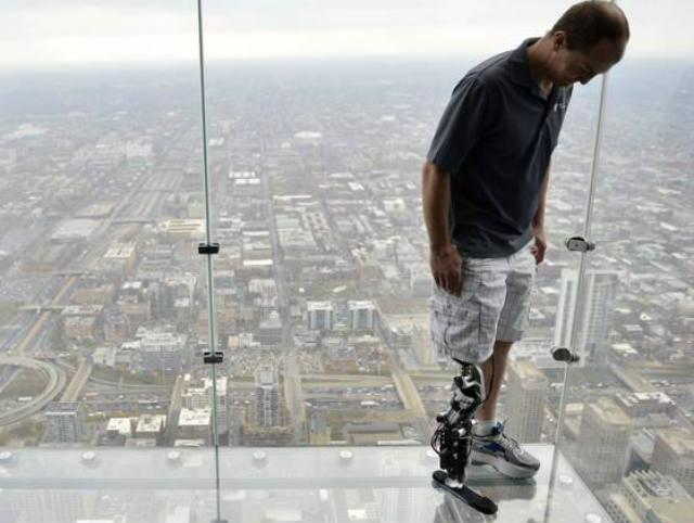 Bionic, leg, stairs, Chicago