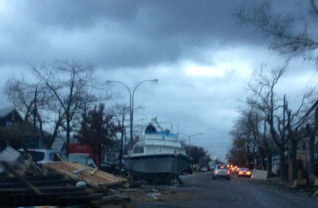 Rockaways Sandy Boat