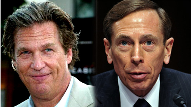 Jeff Bridges, David Petraeus, Paula Broadwell.
