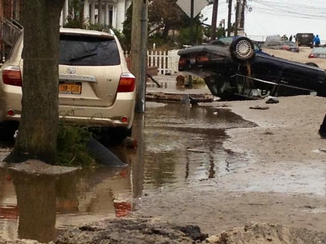 Rockaways Wrecked Car