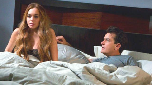Charlie Sheen, Lindsay Lohan, back taxes, $100,000 check