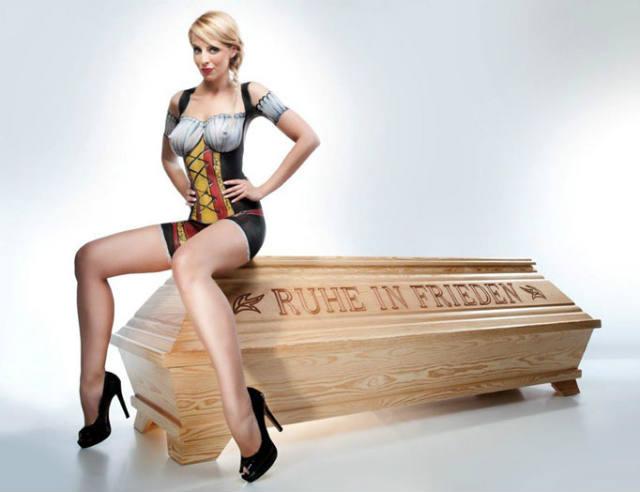 Coffins, hot models, Polish, Catholic Church