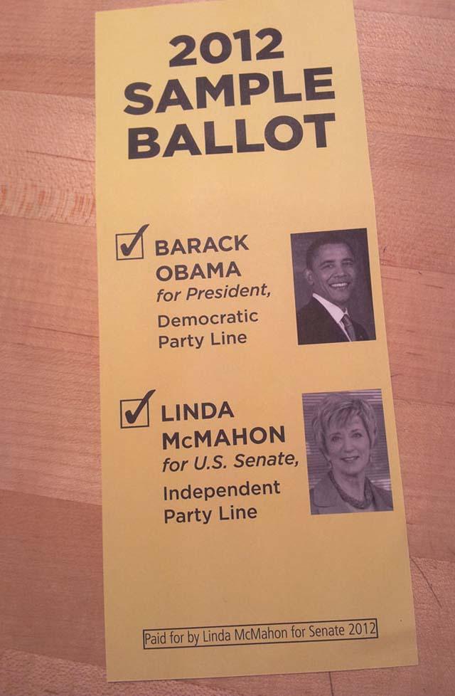 Linda McMahon, Connecticut Ballot, Senate Race, Chris Murphy.